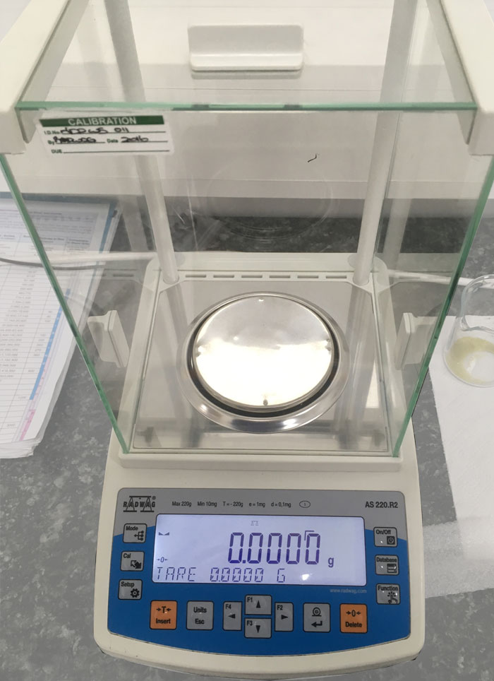 Precision Weighing